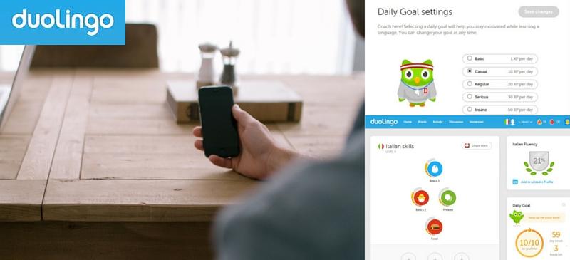 Duolingo: oefen elke dag 5 min. een andere taal met een gratis taal app