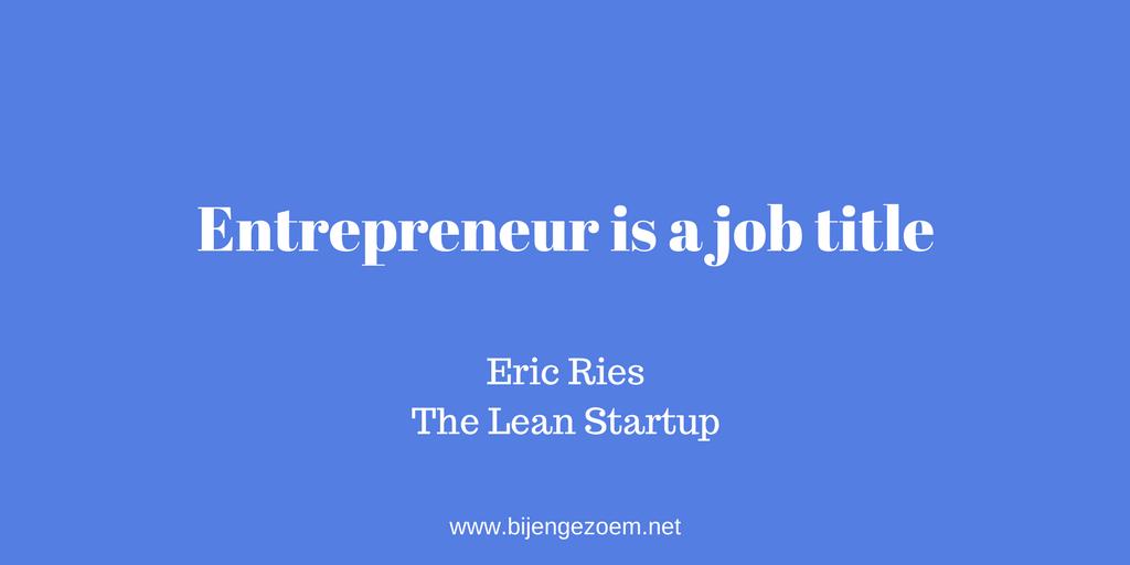 Entrepreneur is a job title