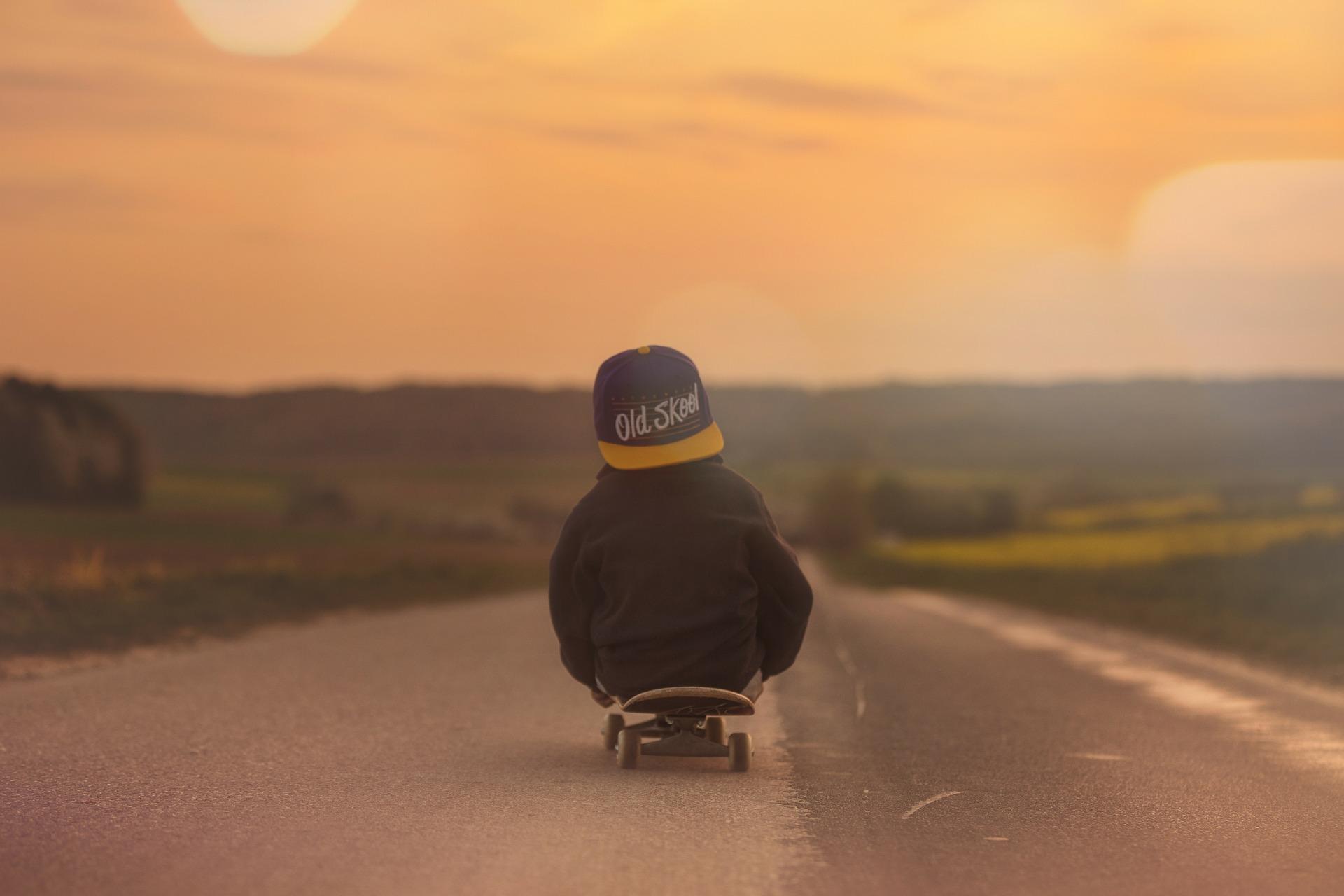 zelfsturing beeld skateboard