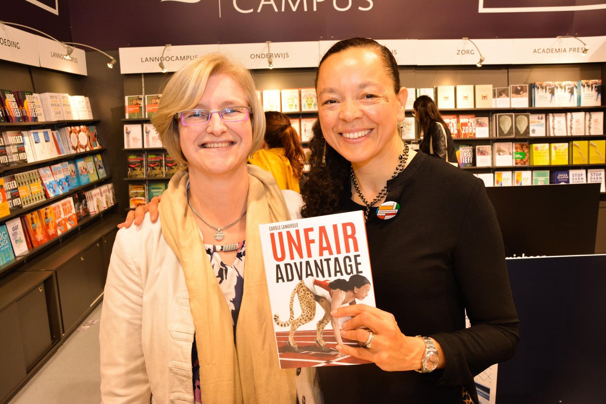 met Carole Lamarque op de Boekenbeurs